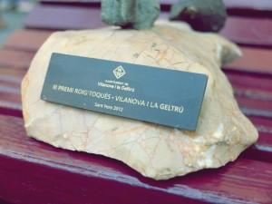 Placa del Premi entregat enguany